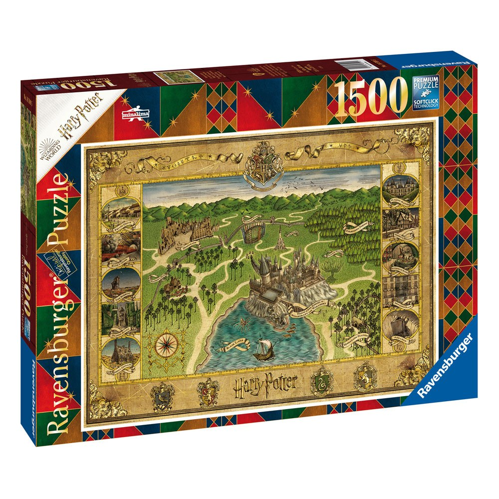 Puzzle Harry Potter Jigsaw Puzzle Hogwarts Map (1500 pieces)