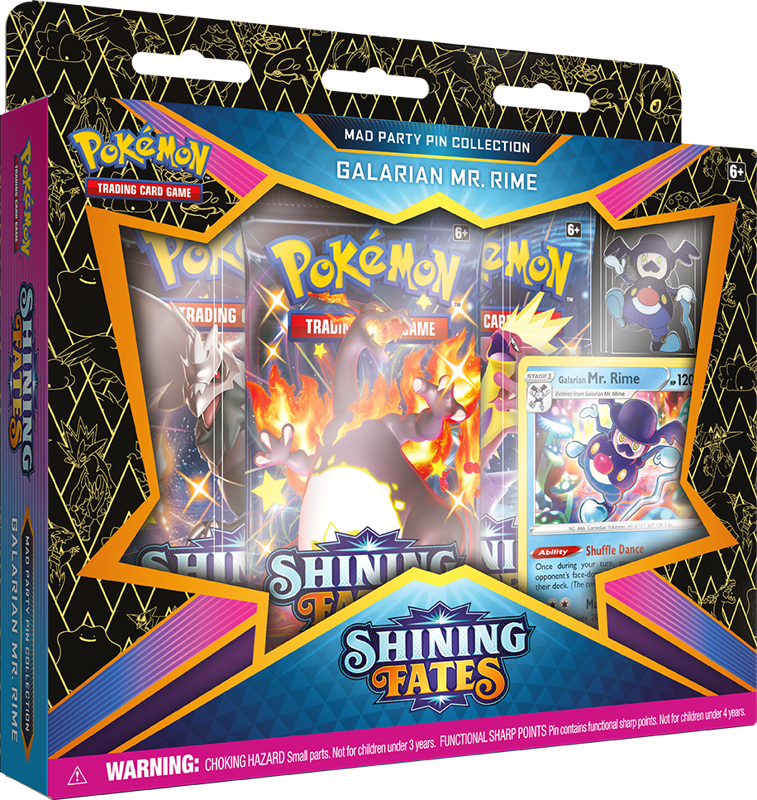 Pokemon Sword & Shield Shining Fates 4.5 February Pin Box