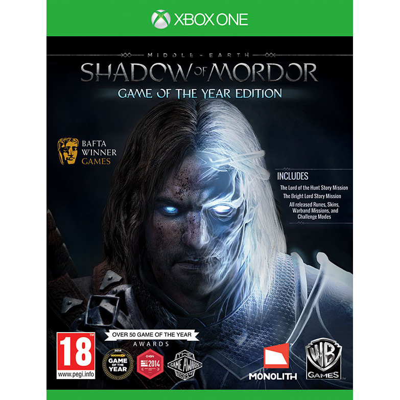 XBOX1 Middle Earth Shadow of Mordor GOTY