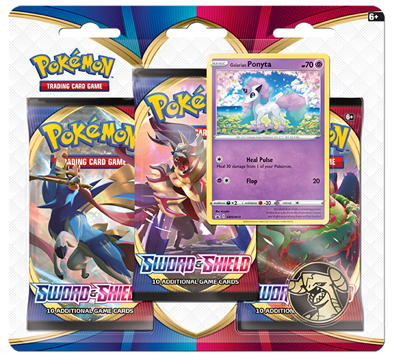 Pokemon SS1 Sword & Shield 3-Booster Blister
