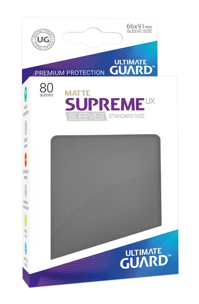 Pokemon Ultimate Guard Supreme UX Sleeves Standard Size Matte Dark Grey (80)